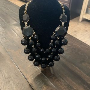 Jewelry - Black & Gold Statement Necklace 20-23""